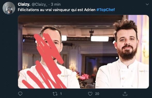Finale Top Chef 2020, Adrien perd mais gagne le coeur des français