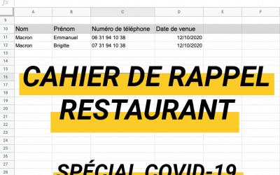 2 solutions pour créer ton cahier de rappel numérique pour ton restaurant