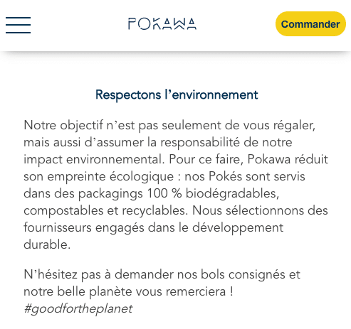 Pokawa respect environnement