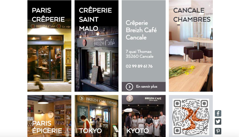 Breizh café site web restaurant page d'accueil